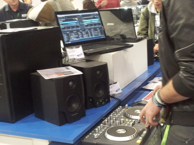 Mixing deck at the SCAN booth